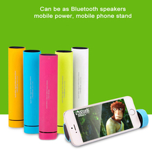 TG01 Bluetooth Speaker Portable with Mobile Power Bank Mobile Phone Stand Holder USB Speakers Stereo Bass Sound Box
