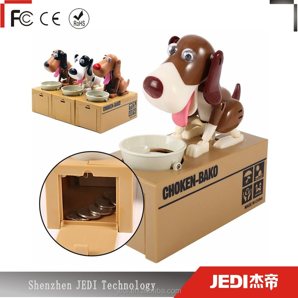 Catoon puppy hungry robotic dog money box wholesale piggy bank with automatic stealing_HL3899