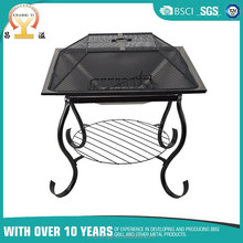 Square Outdoor Charcoal Camping Safety Lid Steel Fire pit