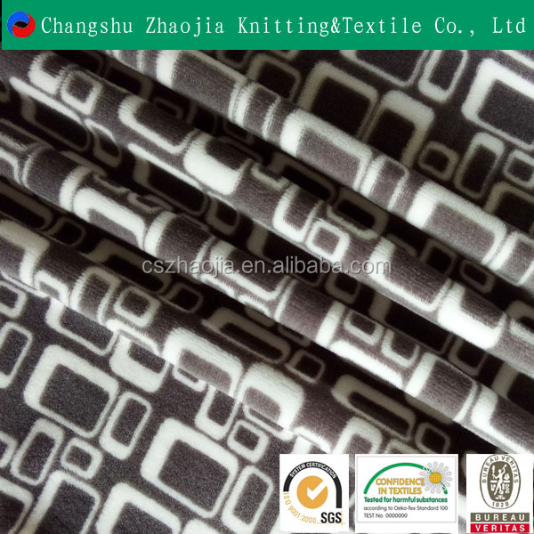 Hot sale new product Wholesale super soft knitting dyeing printin sofa fabric for home textile fabrics