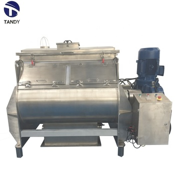 Food industrial horizontal double shaft paddle mixer / powder fines paddle blender