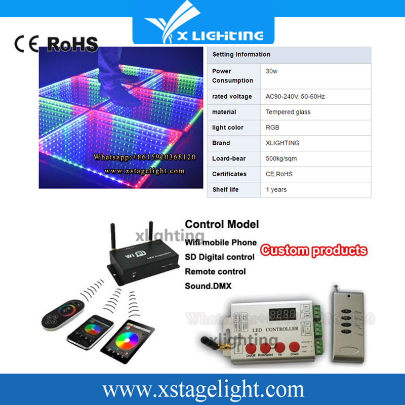 good quality Wholesale New Year promotion dj equipment china led dance floor 432*10mm rgb make OEM