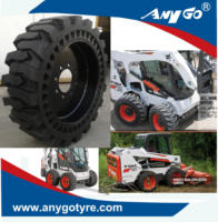 High quality ANYGO brand 12-16.5, 33x6x11, 33x12-20 Skid steer solid tyres / tyres for Bobcat skid steer loader