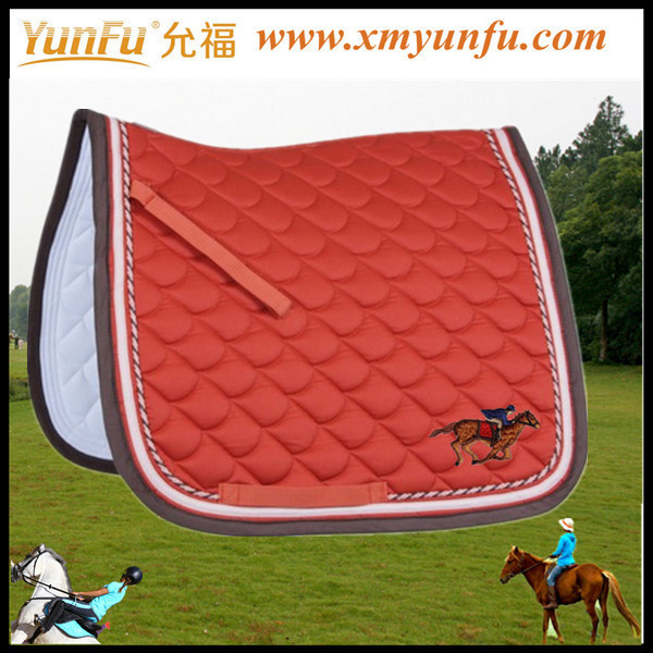 Polyfill Horse Saddle pads cotton quilted saddle pad with polyfill