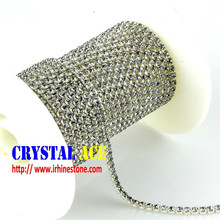 Hot sale rhinestone brass cup chain for decoration
