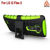 Hybrid Protective Hard Rubber Case For LG G Flex 2, Impact Shock Rugged Kickstand Phone Case for LG Vu 4