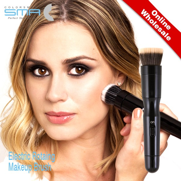 New arrival electric automated rotating brushes makeup <strong>face</strong> with replaceable brush heads for women
