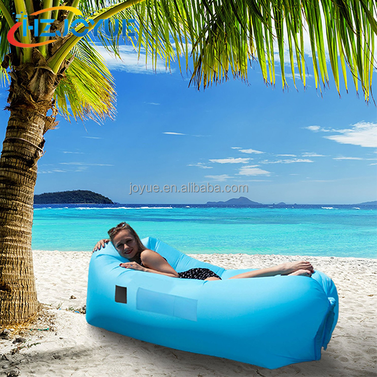 2018 Nylon Fabric inflatable lounger, 10S Fast Inflatable Sleeping Bag Sofa, Camping inflatable air mattress