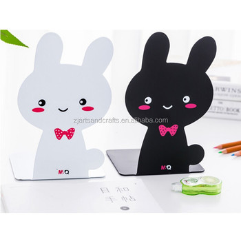 Metal Cheap Cute Rabbit Shape School Students Bookend