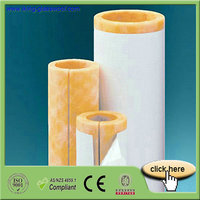 Heat Resistant Fiber Glass Wool Pipe Insulation for HVAC