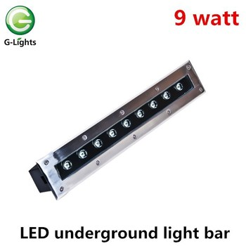 9w stainless steel led recessed linear inground wall washer light ip67
