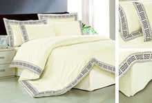 9pcs lace polyester cotton most popular high quality cheap manufactures china plain furniture set bedspread quilt comforter set