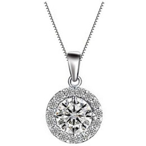 Shinny Round Crystal Round Necklace
