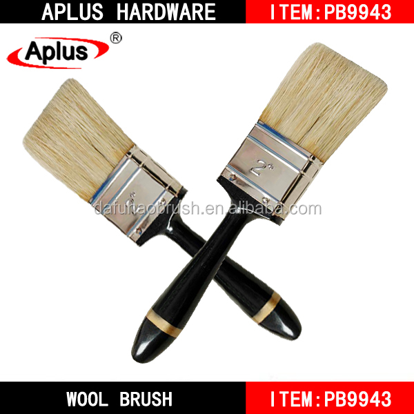 Bulk painting tools Wooden handle with varnished 100 pure texture paint tools for flooring
