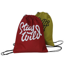 promotional drawstring bag polyester/draw string bag/sport string bag backpack with one side pocket