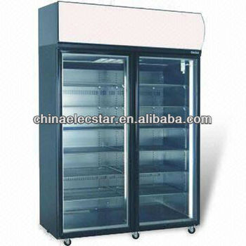 Double Door kitchen Freezer with Fully Removable Refrigeration Deck and CFC-free Polyurethane Insulation