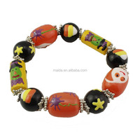 hand made bracelet made of beads, USA hot sale custom glass bracelt HLW074
