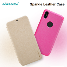 Nillkin Sparkle New Dropshipping Luxury Flip Leather Cell Accessories Back Cover Casing Case For iPhone X 8 5 5S 5C 6 7 SE Plus
