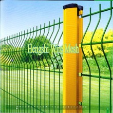 Curved Green PVC Coated Welded Wire Fence