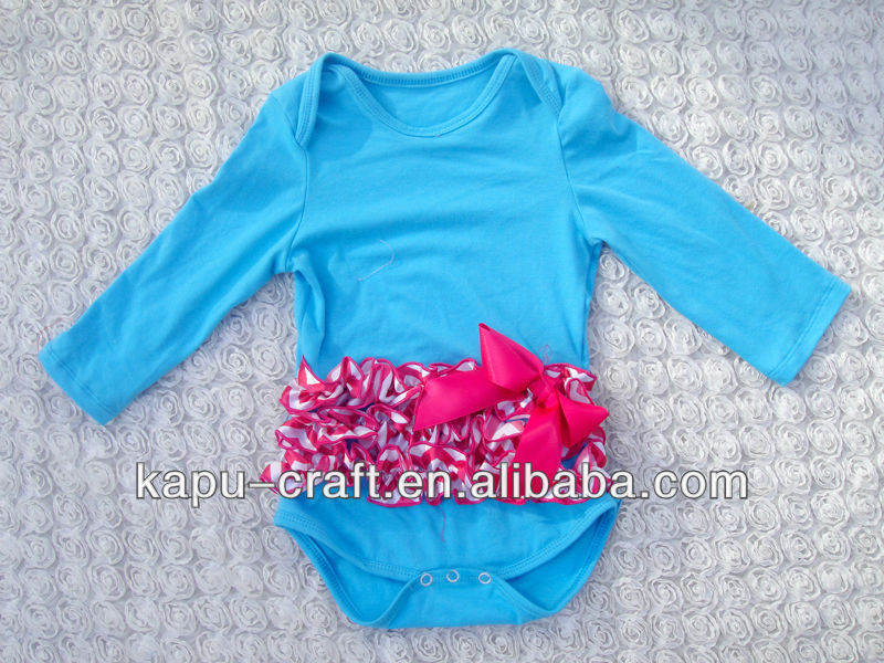 High quality long-sleeve solid color baby rompers