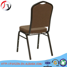 Linen cushion steel aluminum chair for banqurt hall used