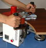 Manual wood edge banding machine