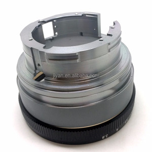 CNC turning machining high quality black anodized aluminum alloy camera ring in cnc processing