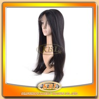 KBL 100% brazilain remy hair full silk lace ladies wigs