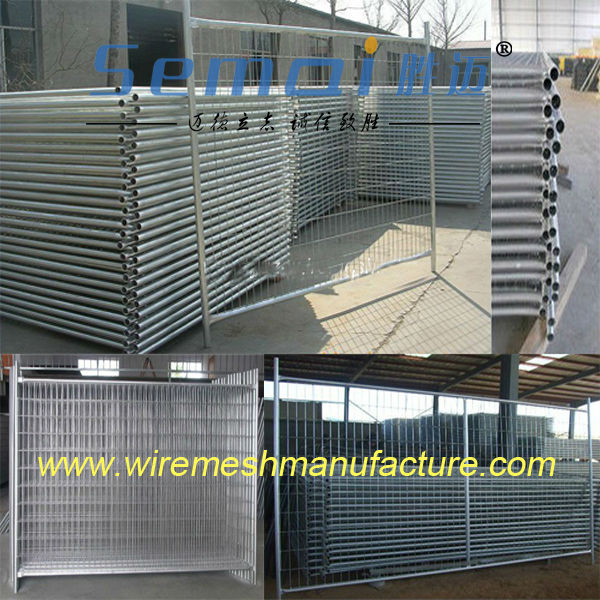 Square Tube And Round Tube Temporary Fence Panel For Sale (ISO/CE)