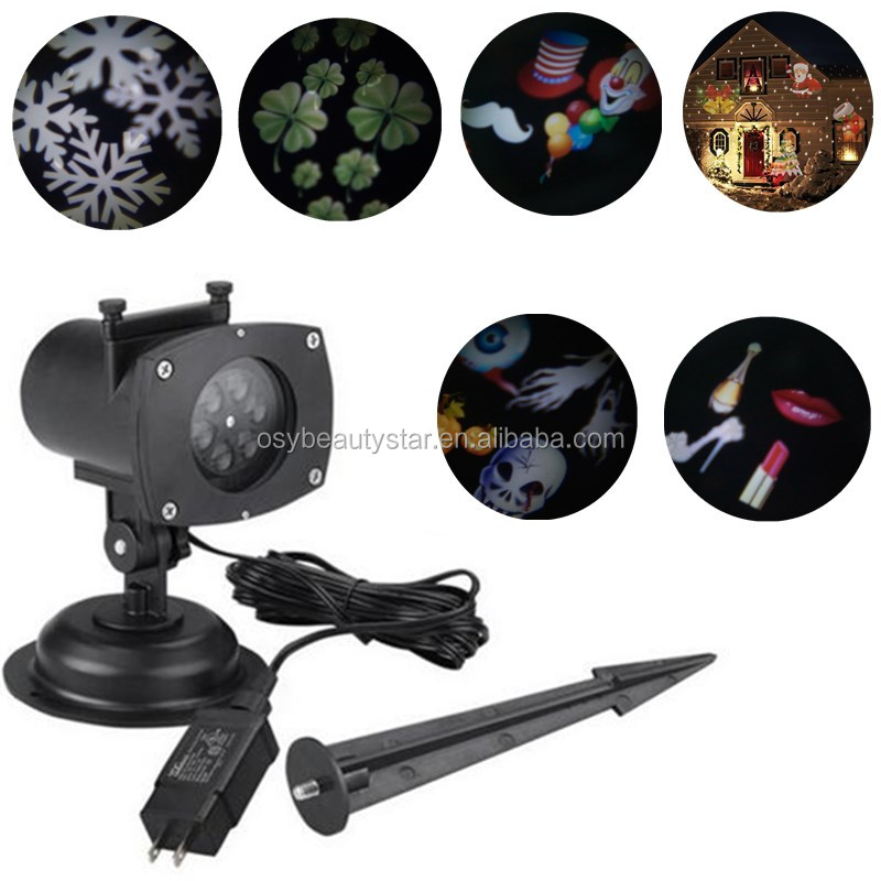Newest Christmas Projector 12 Pattern LED Halloween Spotlights Waterproof 12 Festival designs Led Projector Lights
