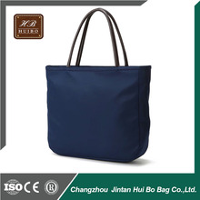 Fashion and plain waterproof nylon tote bags with zipper