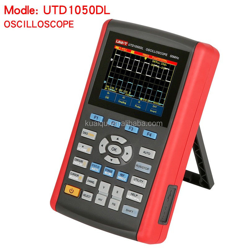 UNI-T UTD1050DL 3.5LCD 50MHz Handheld Digital Display Oscilloscope with Voltage,Current,Resistance,Capacitance Measurement