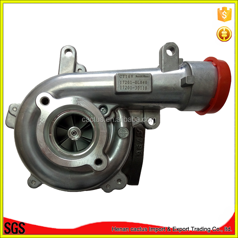 CT16V 17201-0L040 turbo parts price turbocharger electric for Toyota 1KD <strong>engine</strong>