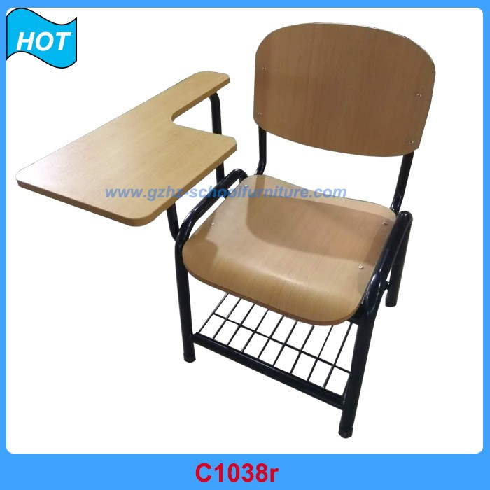 Conference Student Wooden Chair with Writing Tablet