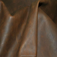 crazy horse upholstery leather cow finished leather