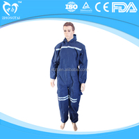 PP SMS dark blue Reflective Safety Cloth Supplier Overalls/Coveralls (Workwear)