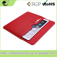 Newest colorful leather pouch case for ipad pro