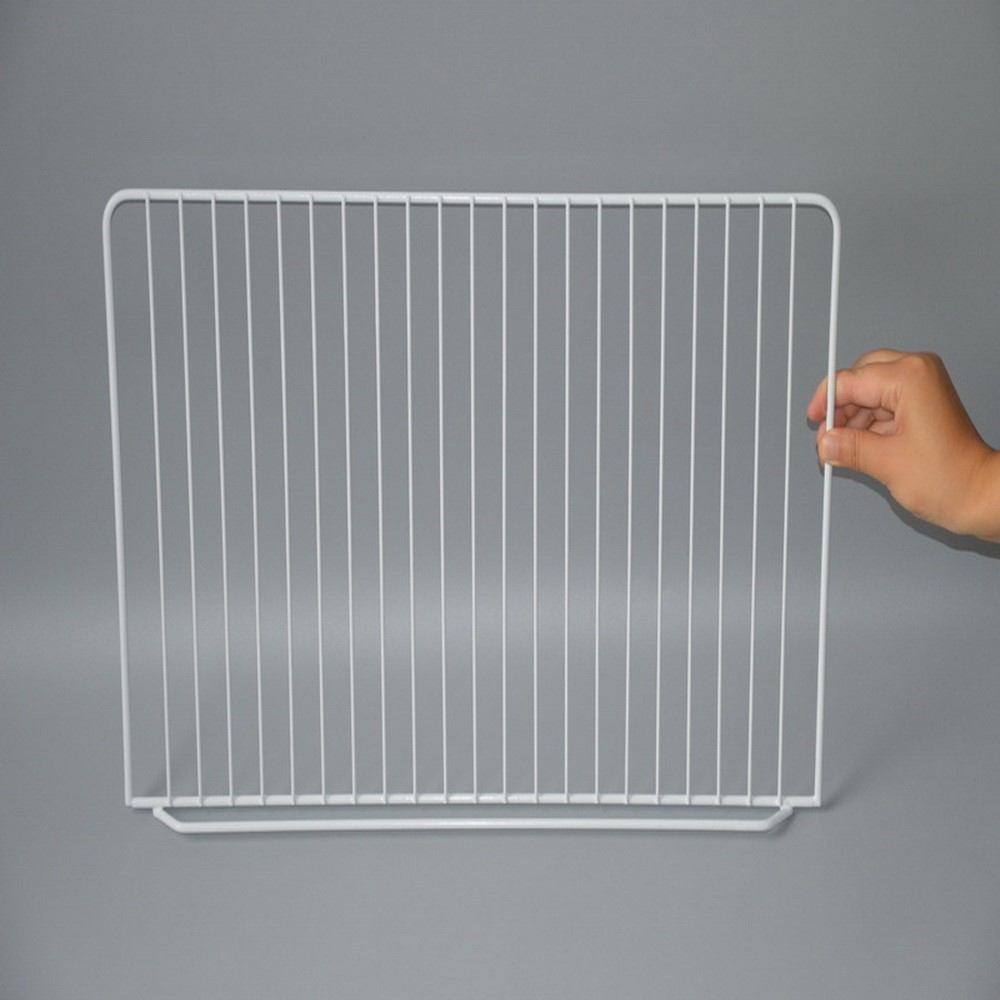 White PE coated metal wire Refrigerator shelf