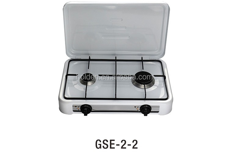 GSE-2-2 Enamel Pan Support 2 burner portable camping gas stove