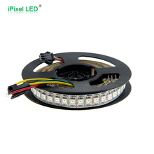 Smart pixel led flexible strip light full rgb pixel led strip 144 leds/m ws2812b