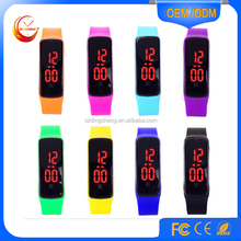Candy Color Ultra Thin Lady Girl Sports Silicone Digital LED Sports Bracelet Wrist Watch