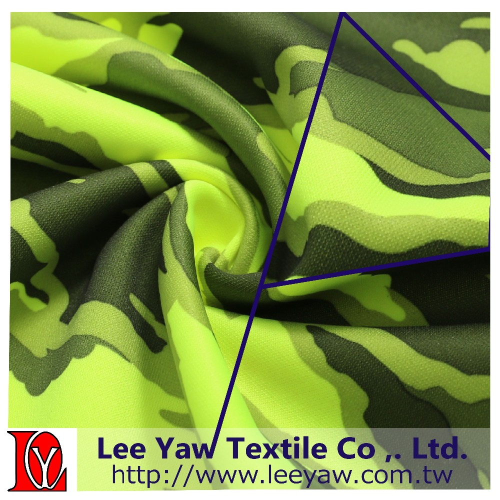 100% polyester pique fleece fabric with paper print mechanical stretch