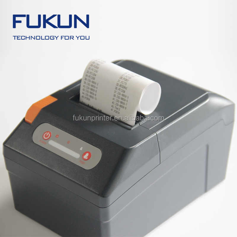 FUKUN Useful 3inch Auto cutter thermal receipt printer with USB interface 80mm pos printer