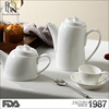 Good quality hotel restaurant banquet white ceramic teaware hotel crockery porcelain tea set teapot