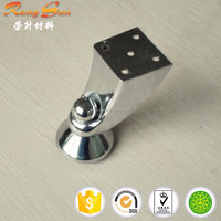 Furniture hardware sliding furniture feet with chrome plate