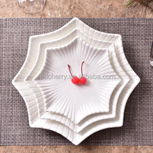 Anise star plate creative ceramic hotel restaurant features white, cold dish plate hot 0