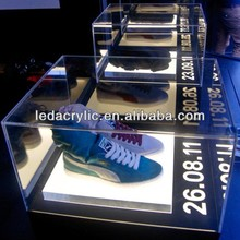 led lighted acrylic shoe display case