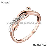 Hot Sale Light Weight popular wedding ring Gold Jewellery