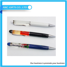 3D floater floating liquid pen with ballpoint pen Custom floater for promotional items