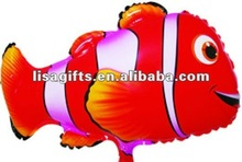 2012 hotting Nemo shaped mylar balloon